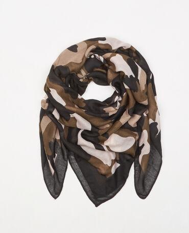 Halstuch mit Camouflage-Print Grün