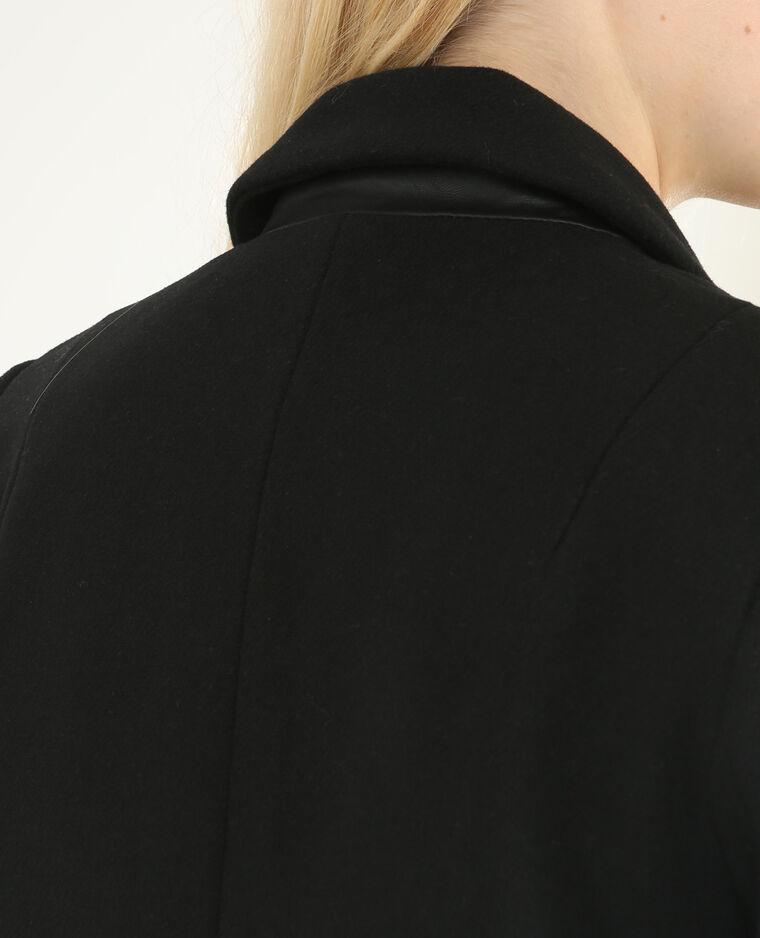 Abrigo recto negro negro