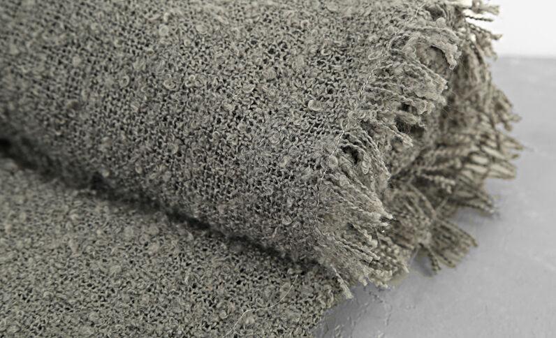 Plaid met lusjesstructuur grijs