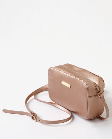 Boxy-Tasche in Metallic-Goldrosa Kupferrot
