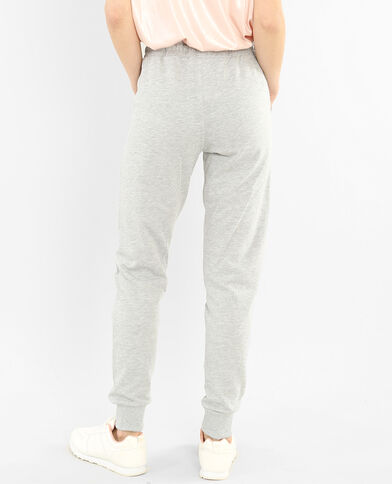 Pantalones de jogging gris jaspeado