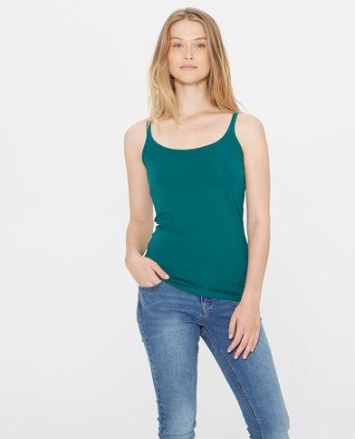 Camiseta de tirantes básica verde
