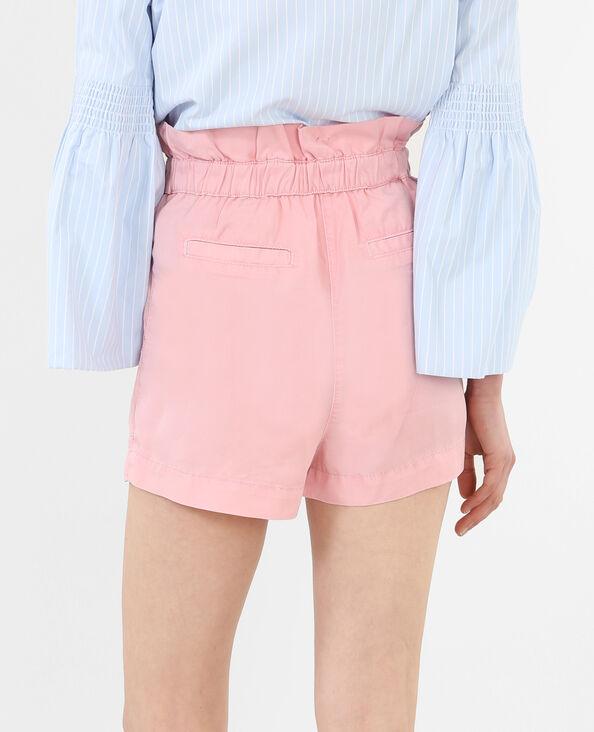 Tencel-Shorts mit hoch angesetzter Taille Rosa