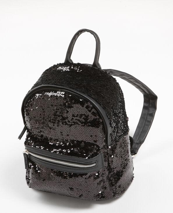 Mini zainetto con paillettes nero