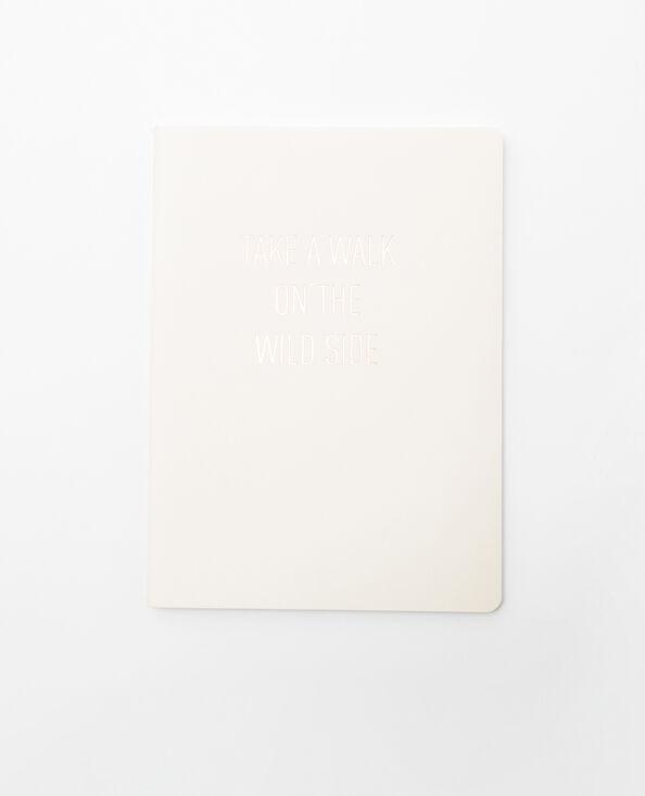 Notebook beige blanc cassé
