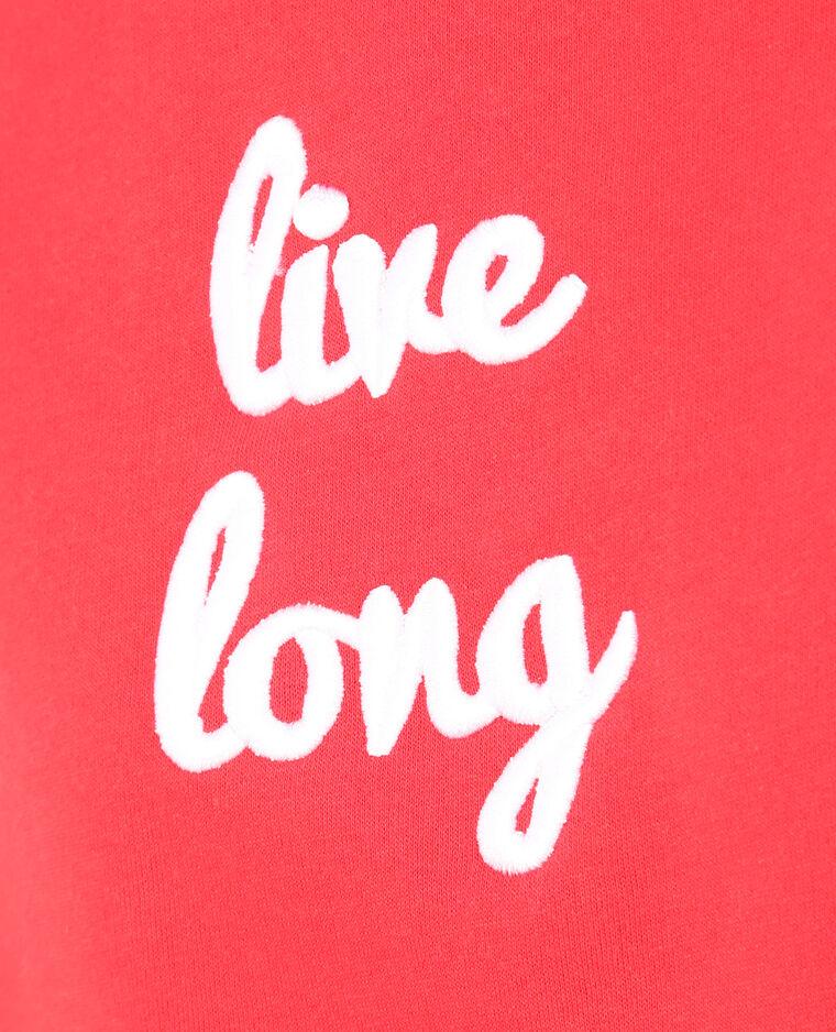 "Sudadera ""Live long"" rojo"