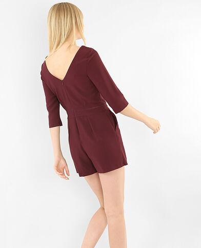 Kombi-Shorts mit V-Ausschnitt am Rücken Bordeauxrot