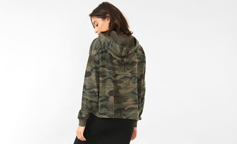 Sweater met camouflageprint groen