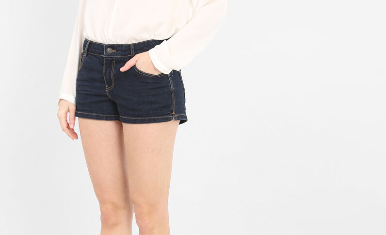 Mini-Shorts aus Denim Blau