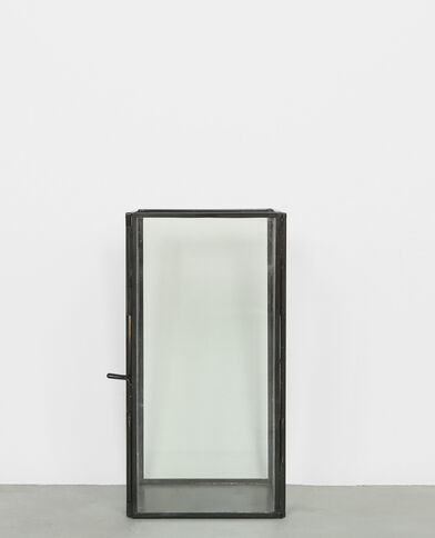 Candelabro rectangular negro