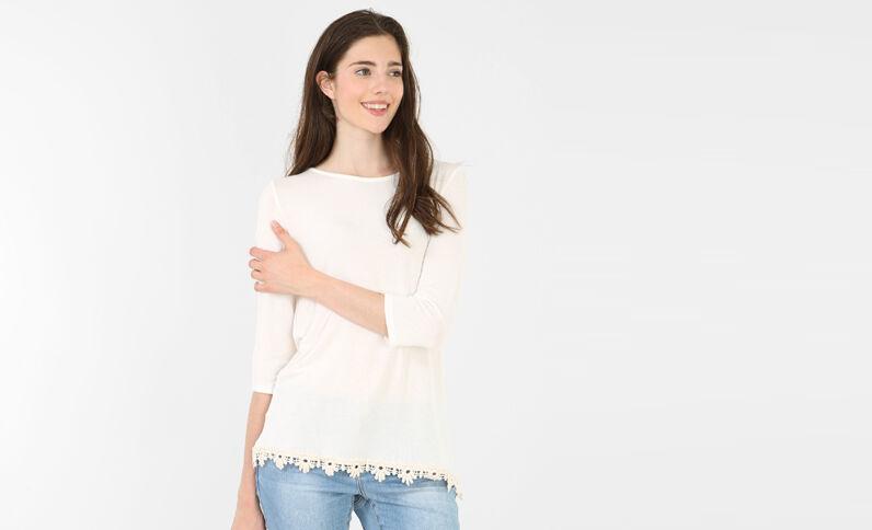 Camiseta de espalda cruzada marfil