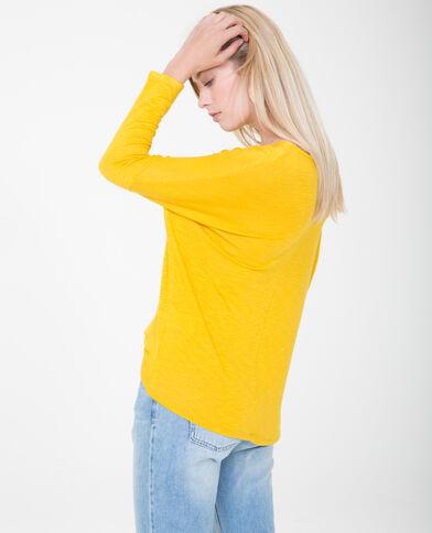 T-shirt maniche a pipistrello giallo mostarda