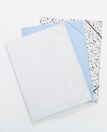Lot de 3 pochettes bleu