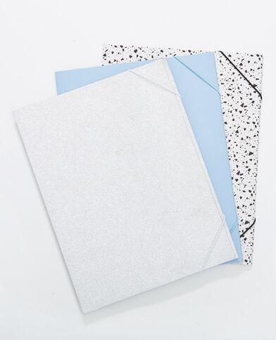 3er-Set Sammelmappen Blau
