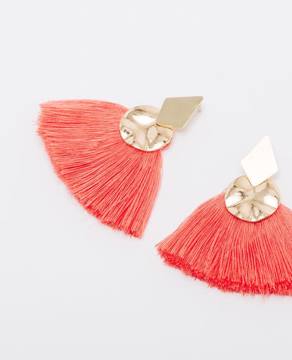 - Ohrringe mit Pompons im 3er-Pack Pfirsichfarben