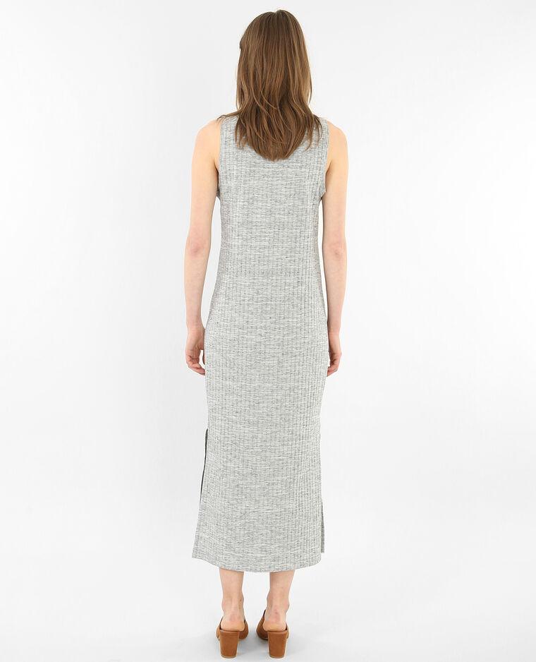 Shirt-Kleid Grau meliert