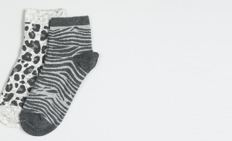 Lot de chaussettes imprimées noir