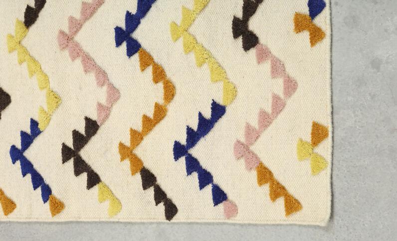 Teppich, mehrfarbig Naturweiß