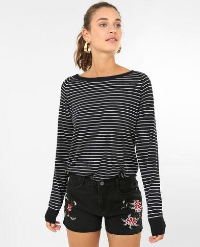 Leichter Basic-Pullover Marineblau