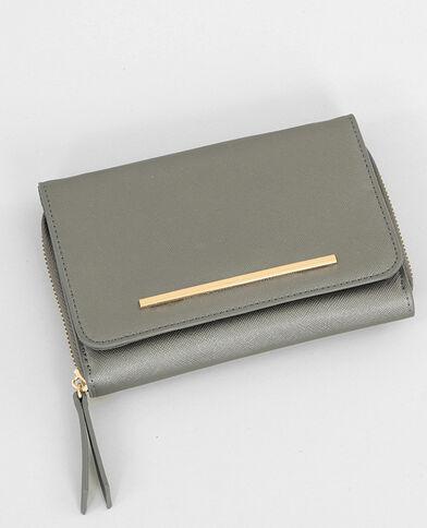 Zilverkleurig mini-enveloptasje grijs