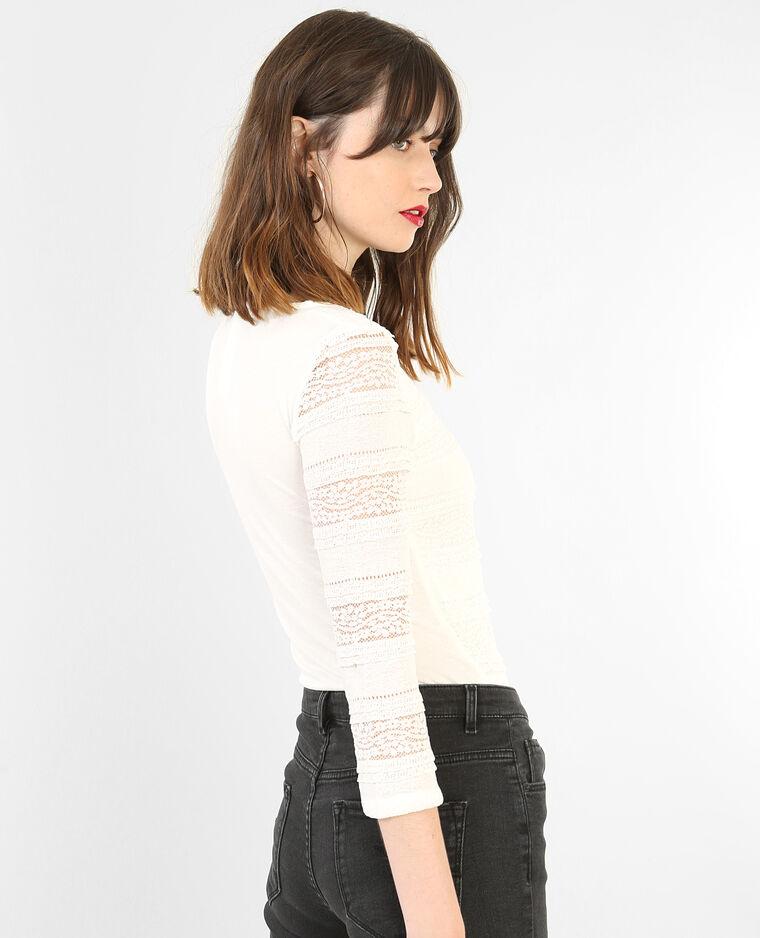spitzen t shirt mit dreiviertel rmeln altwei 403596912a09 pimkie. Black Bedroom Furniture Sets. Home Design Ideas