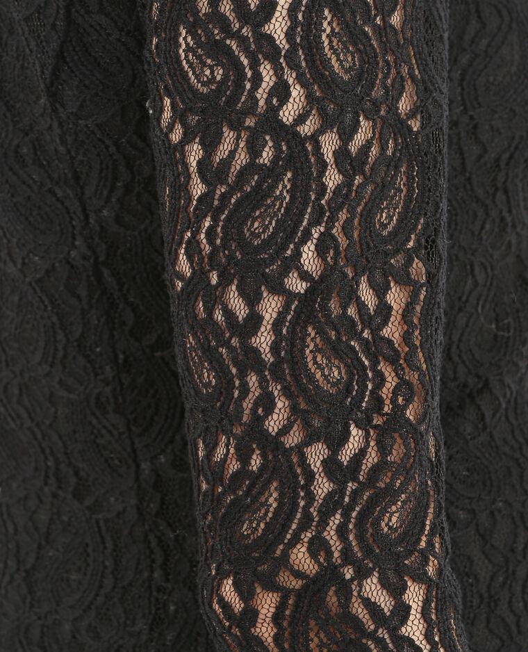 Robe patineuse dentelle noir