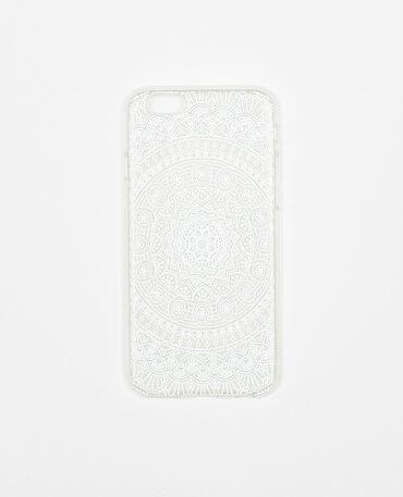 Hülle für I-Phone 6 im Bohème-Stil Naturweiß