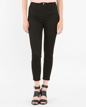 Skinny-Jeans mit hoher Taille Schwarz