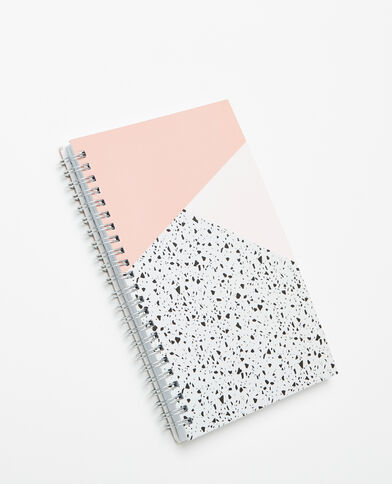 Notebook à spirales rose