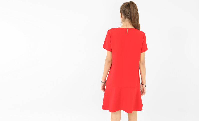 Vestido ancho rojo