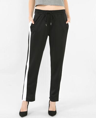 Pantalone da jogging con fasce nero