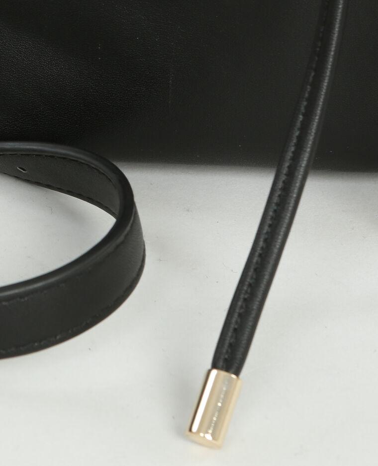 Sac bourse minimaliste noir