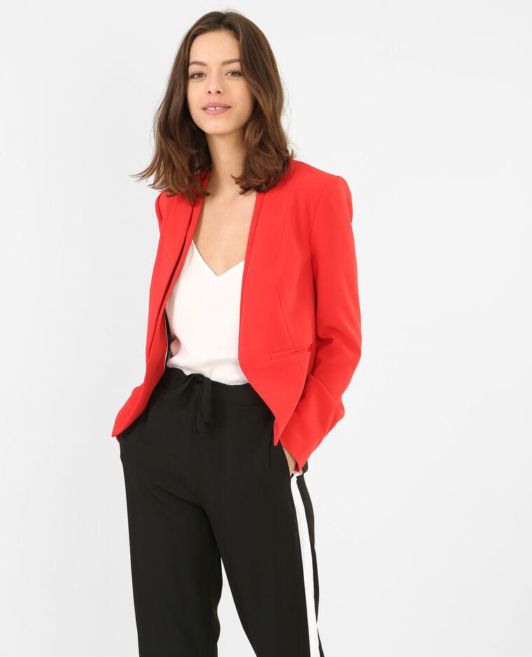 blazer court femme rouge 323122342a03 pimkie. Black Bedroom Furniture Sets. Home Design Ideas