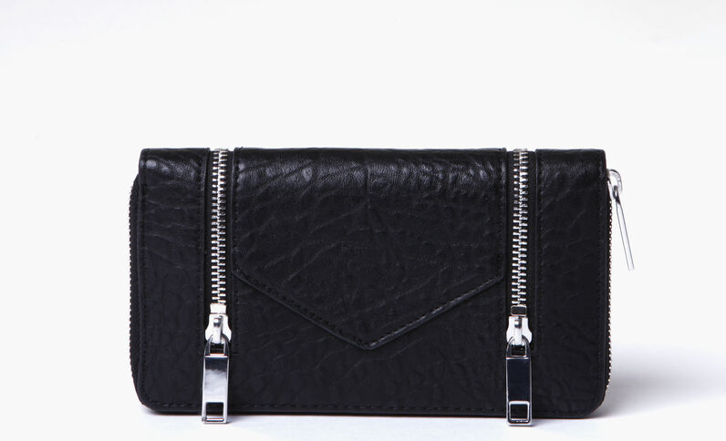 Portafoglio Compagnon con zip nero