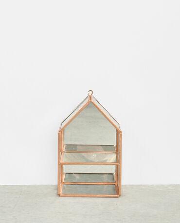Box maison miroir cuivré
