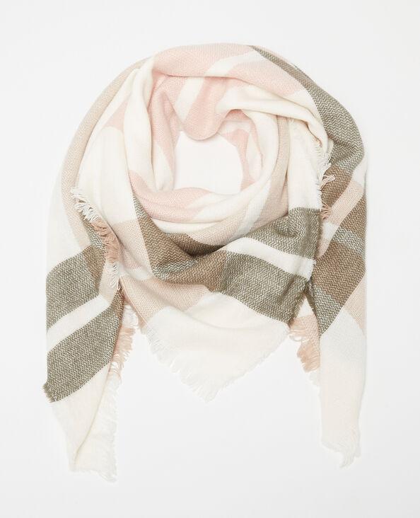 Großer Schal mit Karomuster Weiß