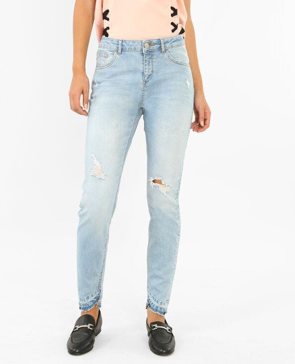 Skinny-Jeans mit mittelhohem Bund. Blau