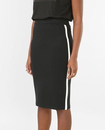 Falda con tiras laterales negro