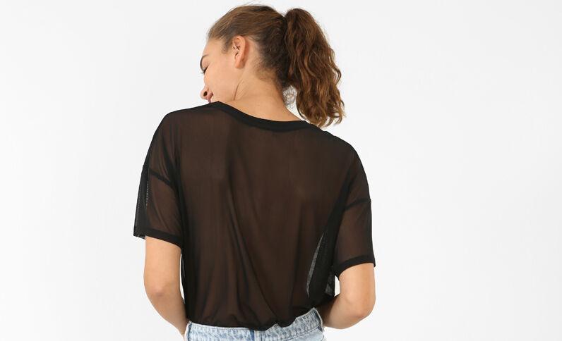 T-shirt résille noir