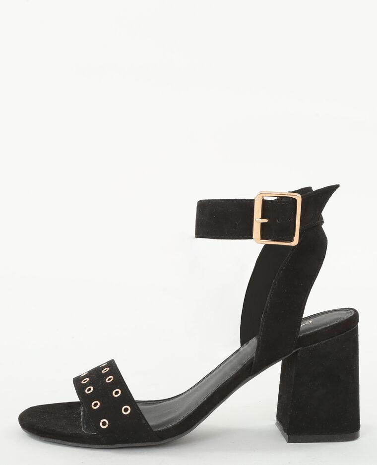 sandaletten mit viereckigem absatz schwarz 988097899a08 pimkie. Black Bedroom Furniture Sets. Home Design Ideas