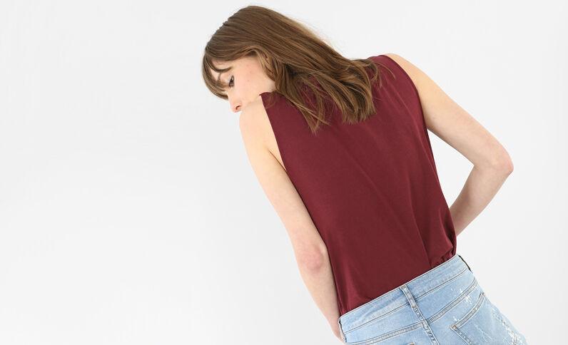T-shirt rock avec dentelle rose