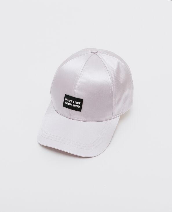 Basecap aus Satin Weiß