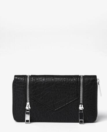Portefeuille compagnon zippé noir