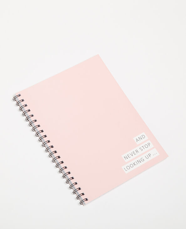 Groot notitieboek met spiraalrug bleekroze