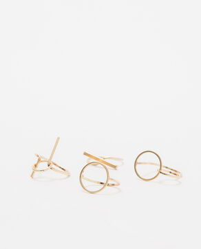 Set aus 4 goldfarbenen Ringen Gold