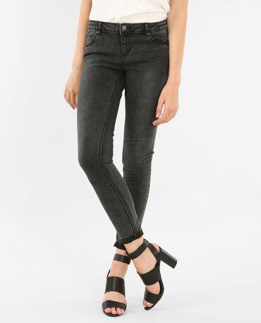 Skinny-Jeans ausgewaschenes Grau