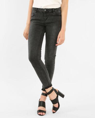 Jean skinny gris délavé