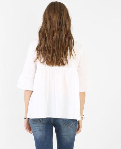 Camicia peplo bianco