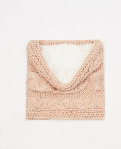 Snood toorsadé fourré Rose