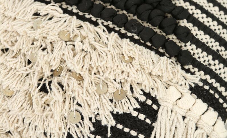 Berberse kussenhoes zwart